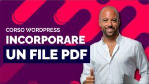 Come inserire un PDF scaricabile in WordPress