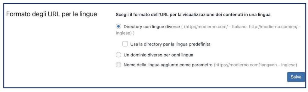 2 - Scelta formato URL
