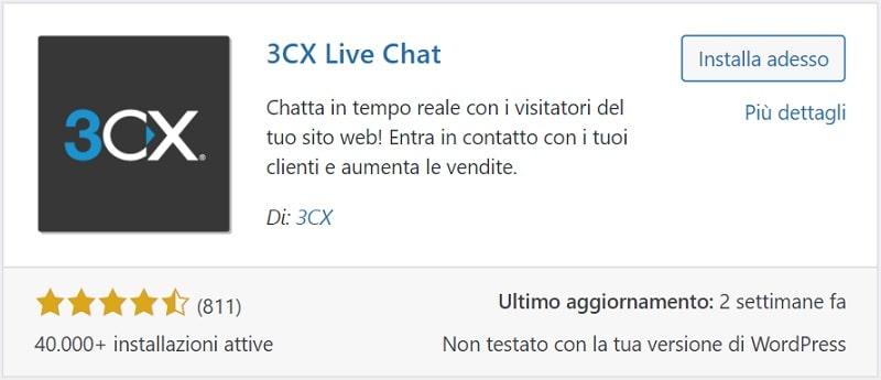 Plugin WordPress 3CX Live Chat