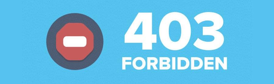 403 Forbidden - come risolvere il problema di accesso negato