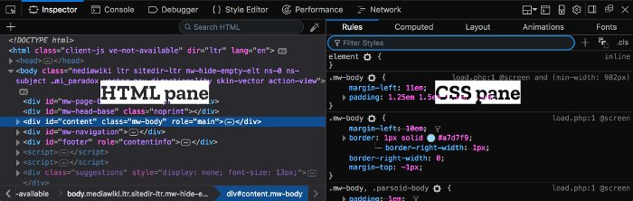 Guida al CSS per WordPress - Firefox Quantum Developer Edition
