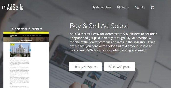 AdSella per vendere pubblicità sul tuo sito