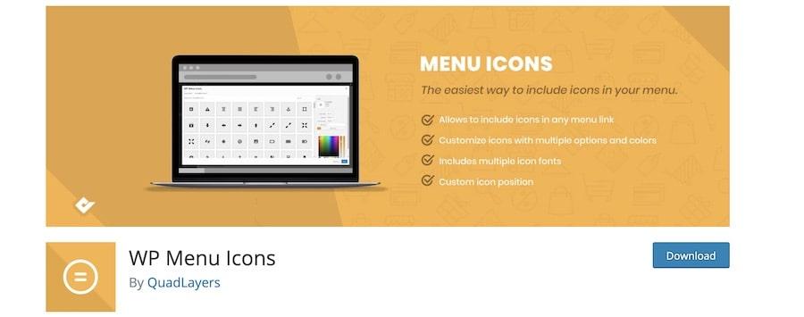 Aggiungere icone nel menu del tuo sito WordPress con i plugin - WP Menu Icons