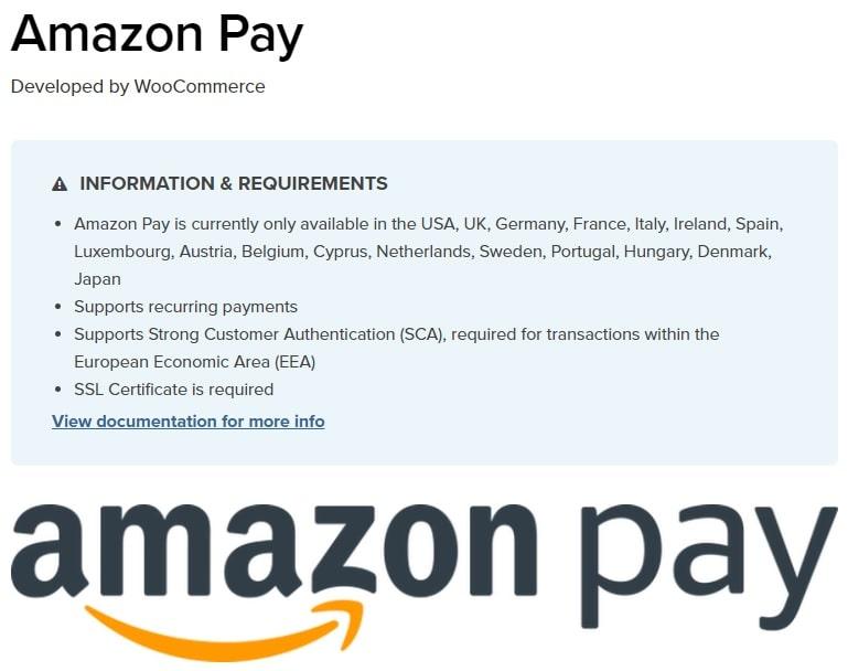 Plugin per usare Amazon Pay con WooCommerce