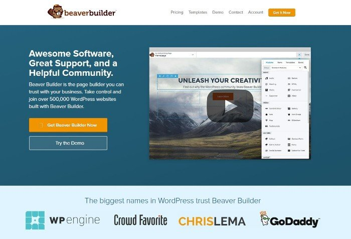 Beaver Builder - visual page builder per WordPress