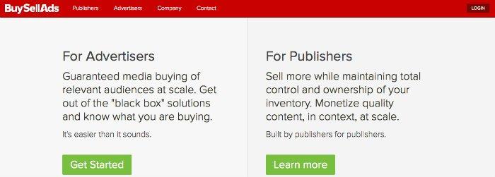 BuySellAds per vendere spazi pubblicitari e guadagnare con un blog