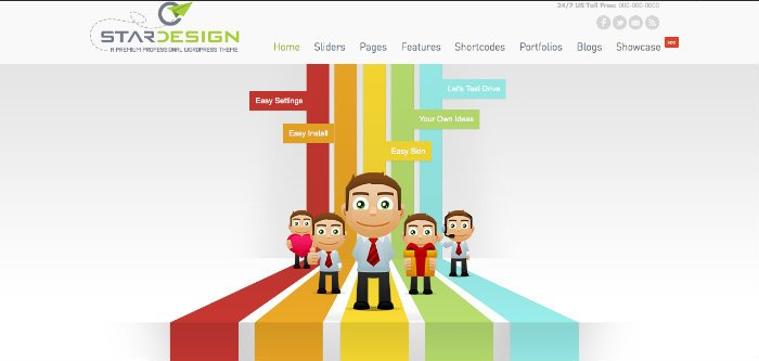 CStar Design Tema Business WordPress