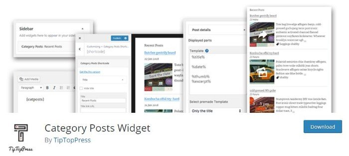 Category Post Widget per far apparire i posts in base alla categoria