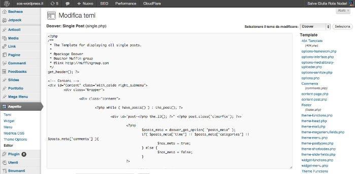 Come non mostrare data e autore dei post con il codice