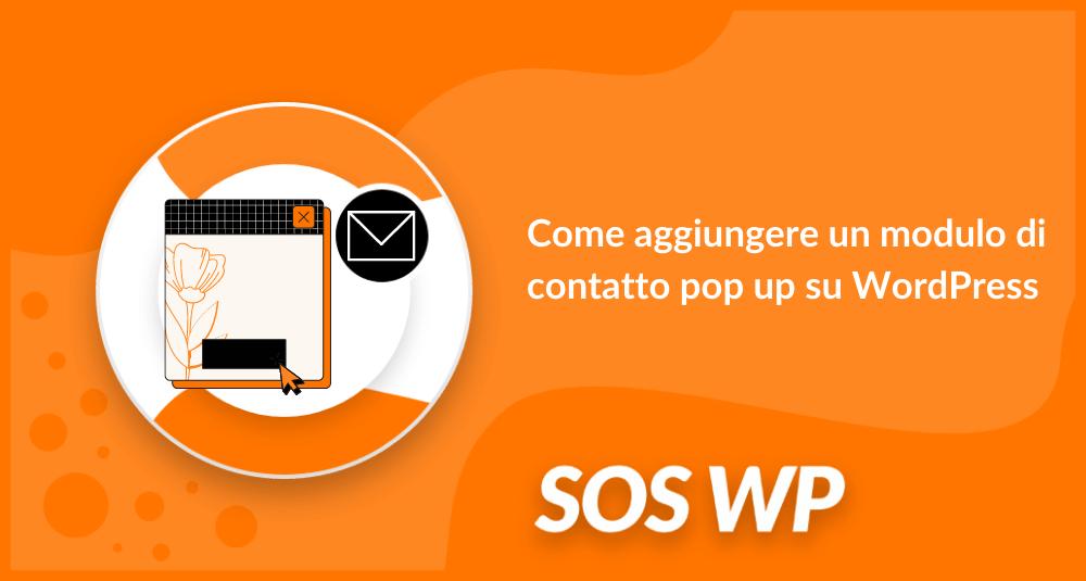 Come aggiungere un modulo di contatto pop up su WordPress