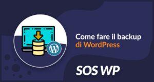 Come fare il backup di WordPress