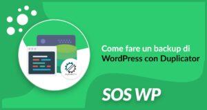Come fare un backup di WordPress con Duplicator