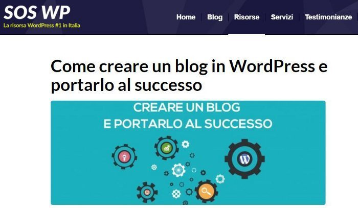 Come gestire un blog WordPress - SOS-WP