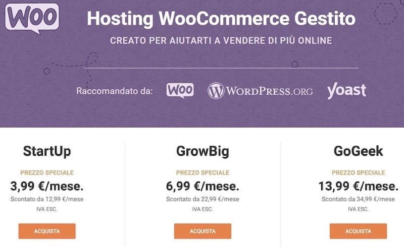 Costo sito eCommerce: dominio e hosting