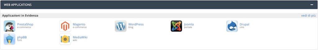Cpanel - Web applications