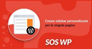 Creare sidebar personalizzate per le singole pagine