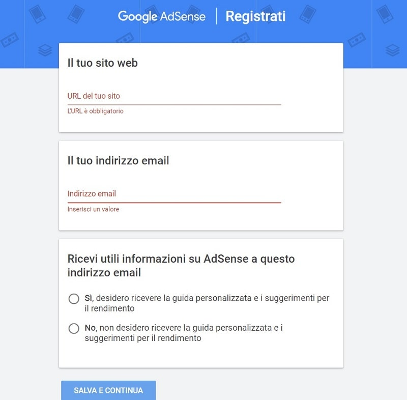 Come creare un account su Google AdSense