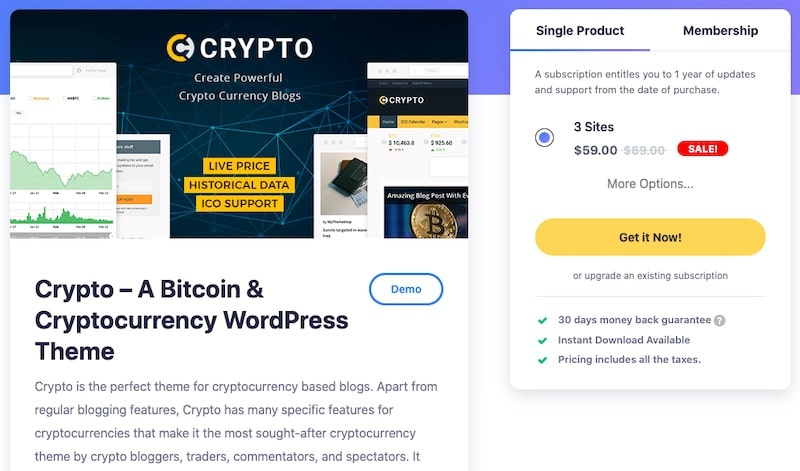 Crypto - Tema WordPress