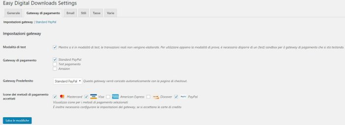 Easy Digital Downloads - metodi di pagamento