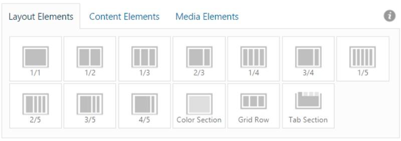 Elementi di layout Enfold
