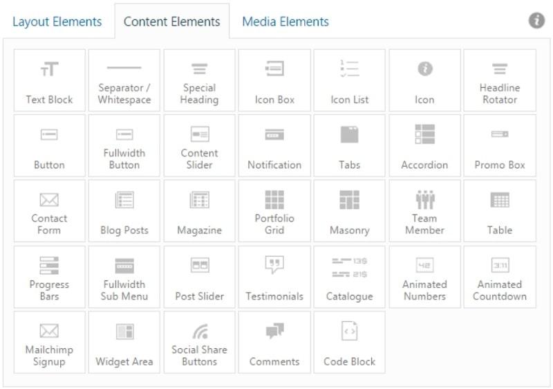 Enfold Elementi di contenuto