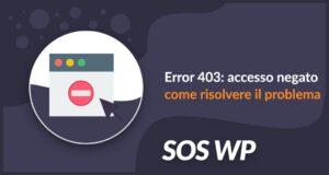 Error 403 accesso negato: come risolvere il problema