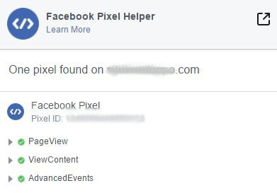 integrare il pixel di Facebook su WordPress - FB Pixel Helper