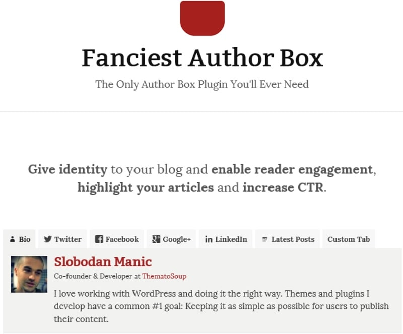Fanciest Author Box - plugin per box autore su WordPress