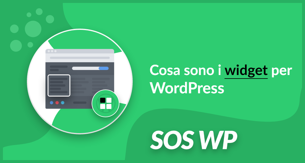 Cosa sono i widget per WordPress