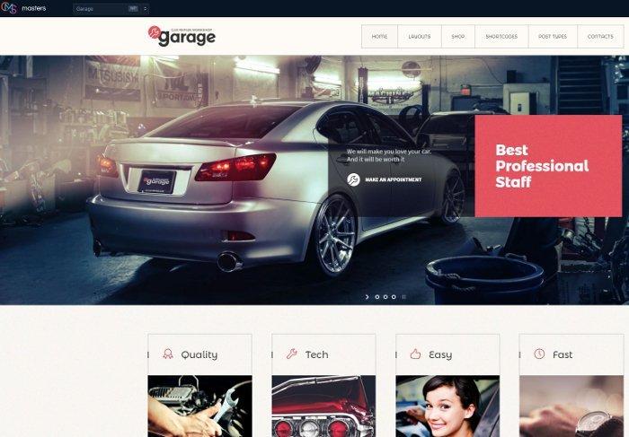 Temi per vendere servizi - Garage