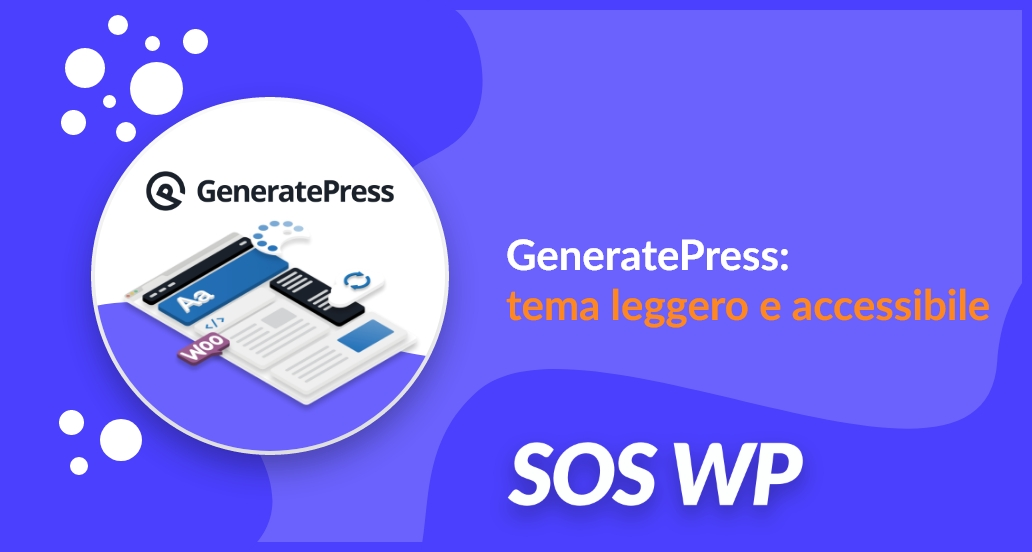 GeneratePress tema leggero e accessibile