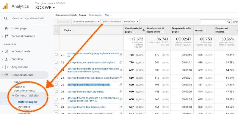 Google Analytics - Comportamenti utenti