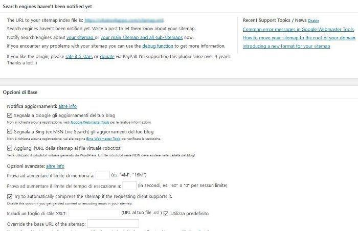 indicizzare un sito su Google - Google XML Sitemaps