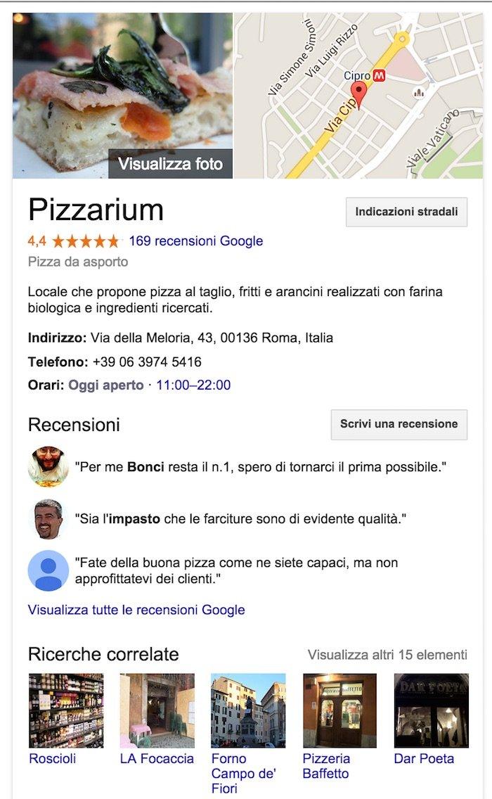 fare local SEO con Google plus business