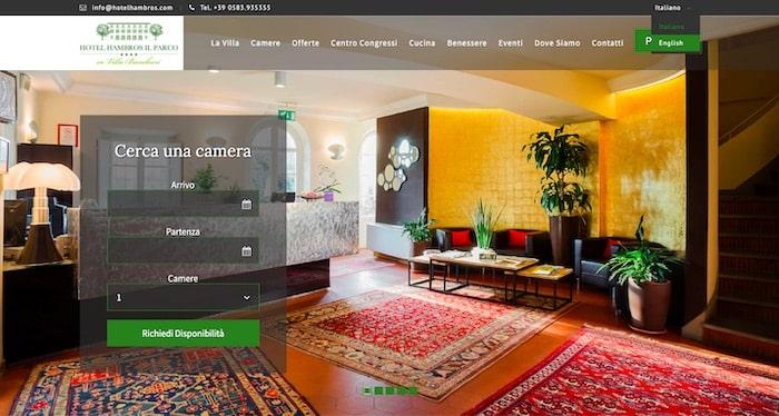 HotelHambros.com - Creazione sito multilingua di SOS WP™
