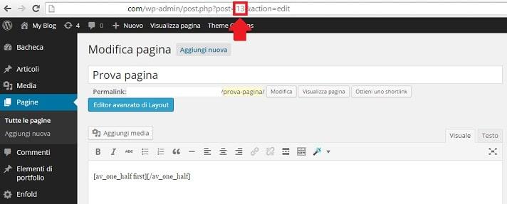 ID pagina post per nascondere pagine e articoli