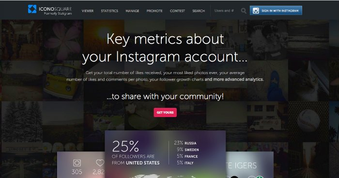Iconosquare ottimizza il tuo Instagram
