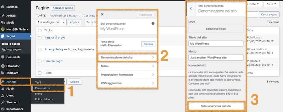 Inserire una favicon usando la funzionalità nativa di WordPress