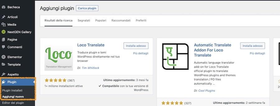 Installa Loco Translate