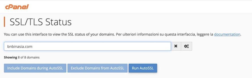 Installa certificato SSL - Vhosting
