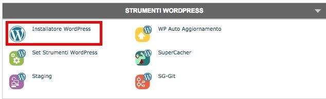 Strumento per installare WordPress