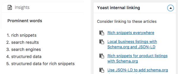 Yoast SEO - Internal link suggestion presto in italiano