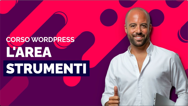 L'area strumenti di WordPress