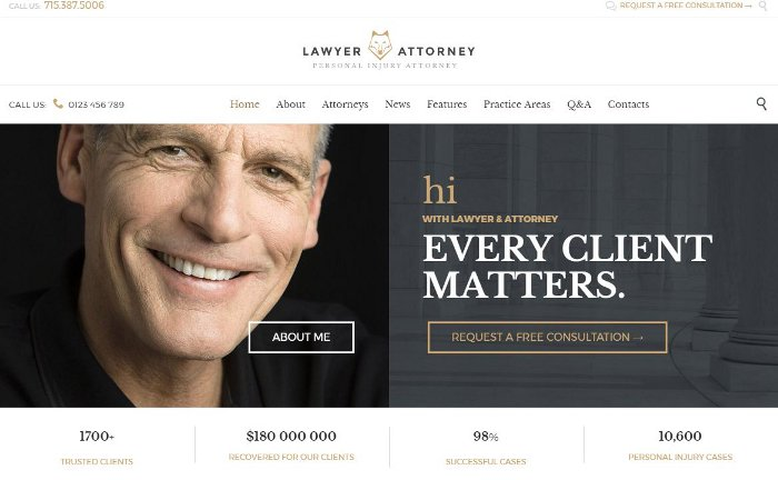 Temi per vendere servizi - Lawyer & Attorney