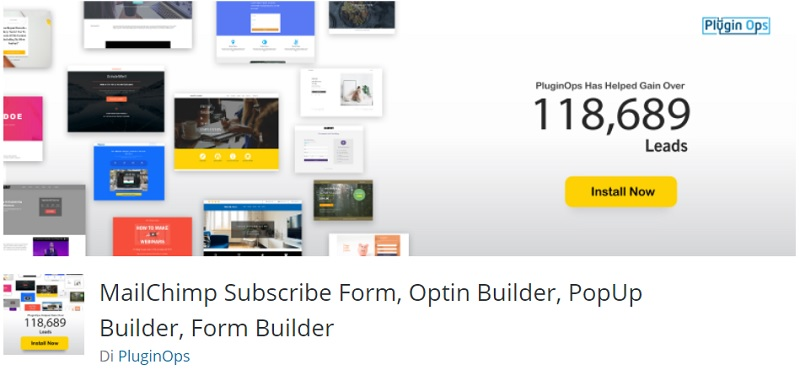 Mailchimp subscribe form Plugin