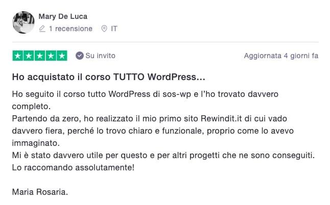 Mary De Luca - Recensione corso TUTTO WordPress