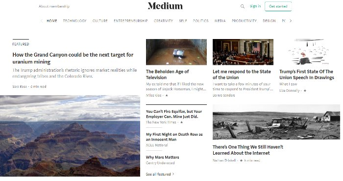Creare blog gratuito con Medium