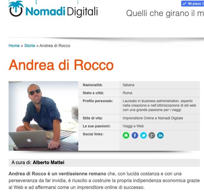Nomadi Digitali Andrea Di Rocco - In Thailandia grazie a un blog di successo