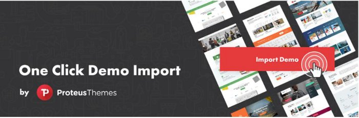 One Click Import Demo - plugin per installare demo temi WordPress