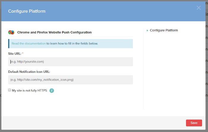 2. Configurazione delle notifiche push per Chrome e Firefox